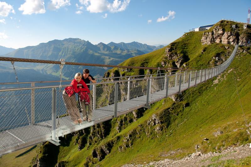 Kam na výlet - visutý most na hoře Stubnerkogel