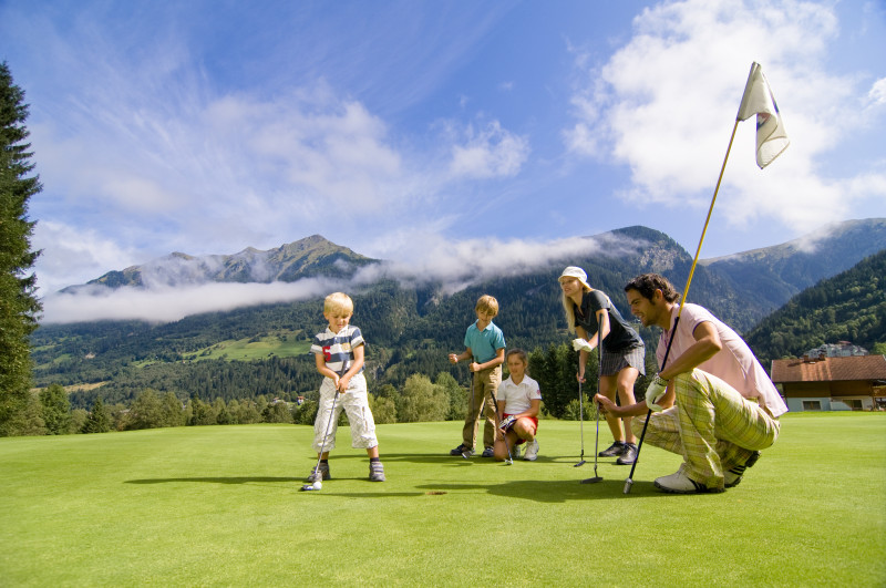 Golf v rakouských Alpách