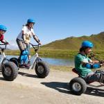 Aktivní dovolená na horských koloběžkách a kárách